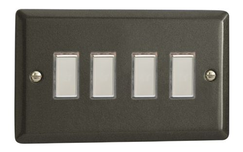 Varilight JPES004 Classic Graphite 21 4 Gang Touch Dimming Slave (use with V-Pro Master)